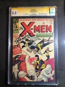 X-Men #1 #2 #3 #4 #5 Signed By Stan Lee High Grade CGC Extremely Rare