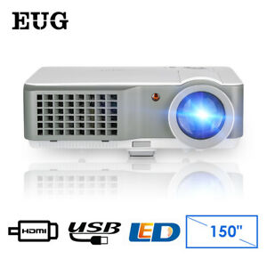 LCD Multimedia Home Theater Projectors HD Backyard Video Movie Party HDMI USB US
