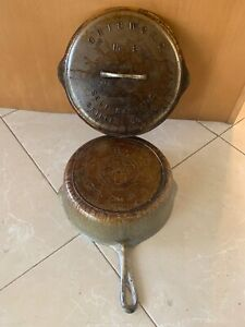 Vintage GRISWOLD CAST IRON Skillet Cover Self Basting & Chicken Pan NO. 8 768