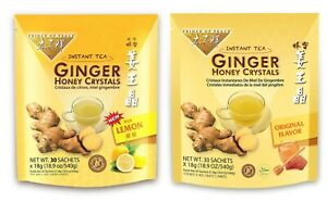 Prince of Peace® Instant Lemon and Organial Ginger Honey Crystals One Pack Each