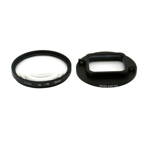 52MM 10 Times Magnification Close-up Macro Lens   adapter for Gopro Hero 567