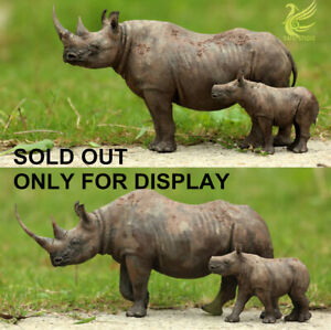 African Black Rhinoceros Rhino Diceros bicorn Wild Animal Model Collector Gift