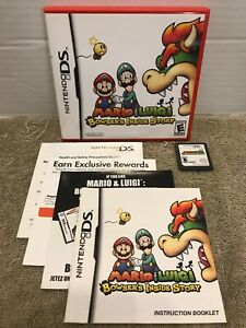 Mario & Luigi: Bowser's Inside Story (Nintendo DS) W Game Case Art & Manual