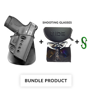 BUNDLE Fobus paddle retention holster for smith wesson s&w m&p shield 9mm &40cal