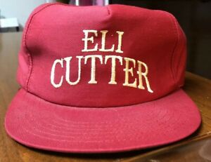 Vtg  80's Eli Cutter Advertising Cigarette Trucker Hat Made in USA MINT!!!!