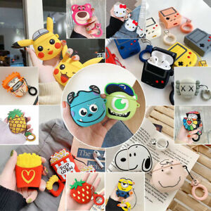 AirPods Silicone Case Cute 3D Anime Cartoon Cover Skin For AirPod Charging Case