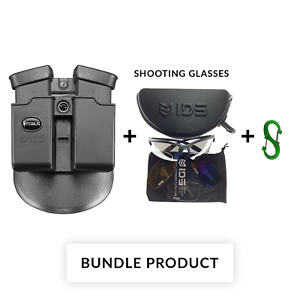 BUNDLE Fobus double magazine mag pouch paddle case holster for Glock 36 6936G