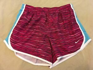 Nike Dri fit Shorts Xl Girls Grey Pattern Lightweight Running Tech Lined $14.44