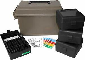 Ammo Can Set Water Resistant O Ring Seal Double Padlock Tabs Holds 400 Rounds
