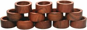 1.5 Inch Wooden Hand Crafted Napkin Rings Set Of 12 Kitchen Home Decor For Party