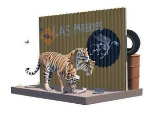 JOSH KEYES The Cerberus Project print feat. Banksy sign reference tiger border $770.00
