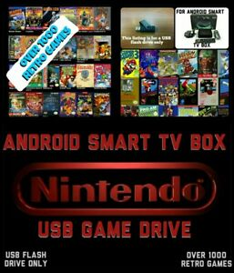 ANDROID SMART TV BOX NES USB RETRO GAME DRIVE 4 MXQ M9S V88 T95 X96 NVIDIA PC
