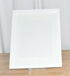 SET OF 2 White Picture Frame Wall Contemporary White Finish Seamless Corners $18.96