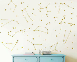 Zodiac Constellation Wall Decal Star Decals Zodiac Gift Kids Wall Decal ga43