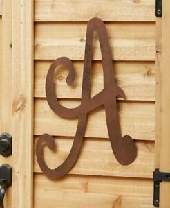 Large Rustic Metal Monogram Letters Initial Personalized Distressed Sign Decor