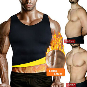 Men's Neoprene Sauna Vest Sweat Shirt Redu Fat Body Shaper Gym Training Top HOT