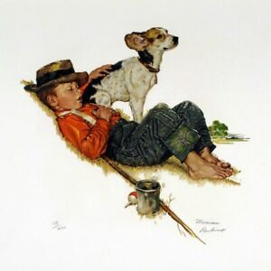 Original Norman Rockwell quot;Puppy Lovequot; Suite Set of 4 Signed Lithographs 72 200 $19999.99