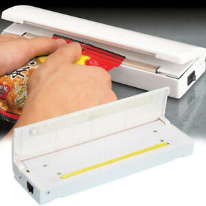 White Mini Heat Sealing Machine Impulse Sealer Seal Packing Plastic Bag Tools US