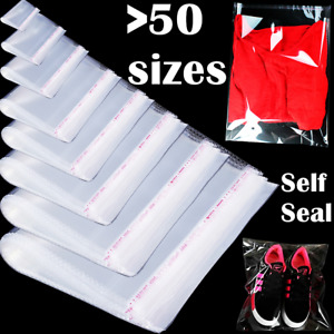 Bags Clear Resealable Self Sealing Adhesive Cello Lip amp; Tape Plastic Poly Bag