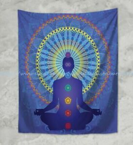 chakras healing yoga meditation wall hanging tapestry home accent wall