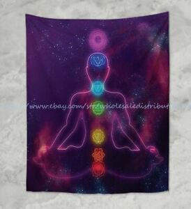 chakras meditation wall hanging tapestry home accent wall decor