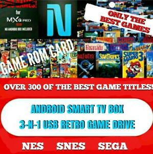 ANDROID SMART TV BOX BEST 3-N-1 USB RETRO GAME DRIVE( ONLY THE BEST GAMES! )