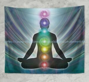 chakras healing yoga meditation wall hanging tapestry wall art picture