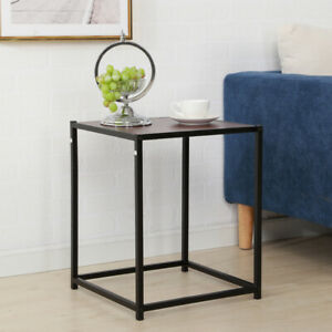 NEW End Table Storage Accent Modern Side Table Living Room Furniture Brown Color