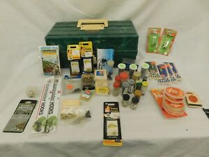 GLADDING G-62S GREEN MARBLE TACKLE BOX WITH A TON OF WEIGHTS LURES AND EXTRAS!
