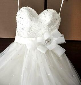 ALFRED ANGELO 💕 $1599 16 DISNEY CINDERELLA 241 ALL WHITE BALLGOWN WEDDING DRESS