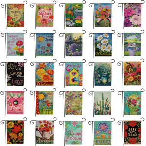Seasonal Garden Flags Double Sided Outdoor Holidays Decorative Lawn Yard Flags