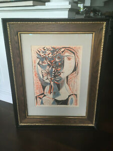 Vintage Mid Century Modern Abstract Woman Flower Richard Zoellner Lithograph