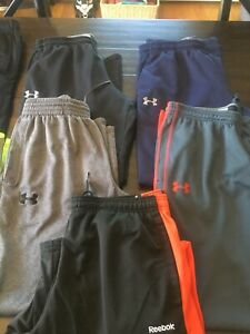 Men's large Nike And Under Armour sweatpants Sweatshirt Lot Of 9