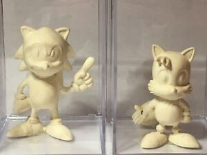 Sonic The Hedgehog and Tails RARE original toy sculpt prototypes -One of a kind