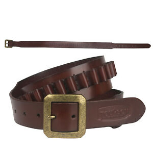 Tourbon Leather Cartridges Belt Ammo Carrying Sling for.383579mm Magnum in USA
