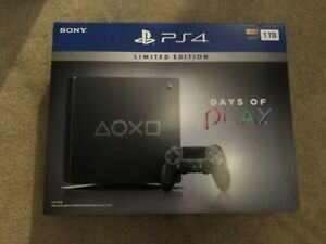 PlayStation 4 Slim 1TB PS4 Limited Edition Console Days of Play 2019 + 2 Games