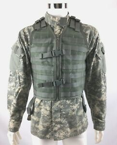 US Military Tactical Vest MOLLE FLC LBV ACU Fighting Load Carrier Army Surplus