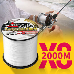 8Strands Braided Fishing Line 2000m 6-300LB Extreme Strong Multifilament PE Line