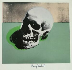 ANDY WARHOL HAND SIGNED SIGNATURE * SKULL *  PRINT  W C.O.A.