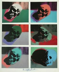 ANDY WARHOL HAND SIGNED SIGNATURE * SKULLS *  PRINT  W C.O.A.