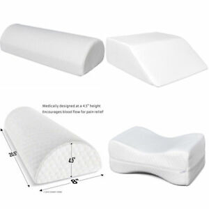 Memory Foam Seat Chair Knee Leg Elevation Wedge Back Support Cushion Bed Pillow