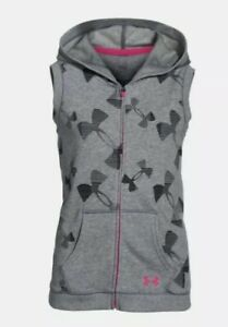 EUC Under Armour Girls Kaleidalogo Full Zip Hoodie Vest 16P $45 #1264664 Soldout