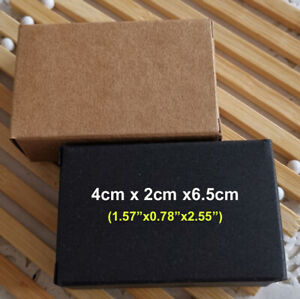 100 Kraft Paper Gift Favor Box Party Jewelry Wedding Christmas Soap Wrap Packing