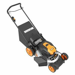 WORX WG751 2X20V 20quot; Cordless 5.0ah Lawn Mower w Mulch Plug and Side Discharge $339.99