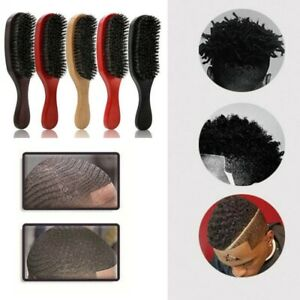 Natural Curved Soft Boar Bristle Wave Hair Brush Wooden Handle Comb Styling New
