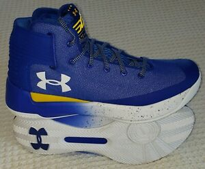 New Under Armour UA Stephen Curry 3 Mens Basketball Shoes ROYAL AND YELLOW 11.5