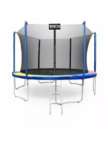 15 FT Round Trampoline with Enclosure Net W Spring Pad Ladder NEW