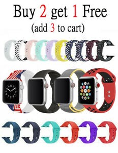 Silicone Nylon Bracelet Band Strap Sports Bands For Apple Watch Series 1234
