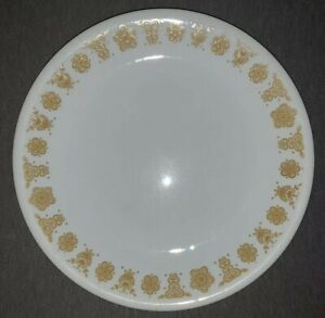 """Corelle Corning Ware Dish - Salad Plate 8 12"""" Golden Butterfly Glassware"""