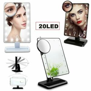 (LOT 1-200PCS) Adjustable 20 LED Touch Screen Makeup Mirror 10X Magnifying MA